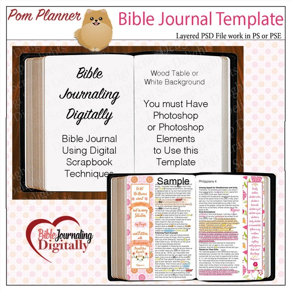 Layered Template for Bible Journaling Digitally with Photoshop
