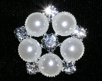 """Style # 15363 Pearl Daisy Button - 13/16"""""""