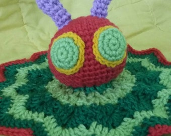 Hand crocheted, Character baby security blanket/lovey