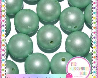 20mm MATTE MINT GREEN Bubblegum Bead, Chunky Bead, Gumball Bead, Acrylic Bead, Round Bead, Diy Jewelry Supply The Bubblegum Bead Co.