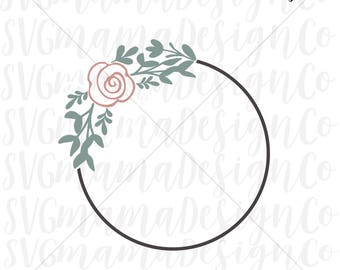 Laurel Wreath SVG Floral Wreath SVG Vector Image Cut File For Cricut and Silhouette