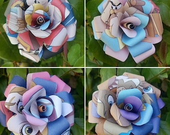 Beauty and the Beast Book Bouquets-Book lover gift-Book Bouquet-Book decor- Unique Gift- Bridal Bouquet- Paper flowers-Wedding- Valentines