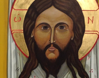 "Jesus Christ, the ""Mandylion"" - ICON -ORIGINAL"