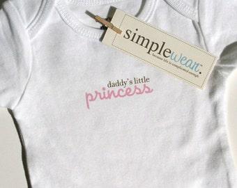 daddy's little princess baby bodysuit