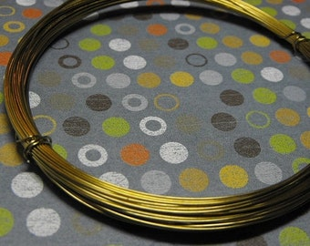 Mothers Day Sale Aluminium Gold Tone 20 Gauge Round Wire 50 Feet