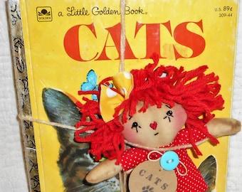 Itty Bitty Annie and Cats Little Golden Book set HANDMADE Raggedy Ann Annie Doll HAFAIR