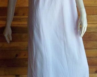 Vintage Lingerie 1950s MARY BARRON Nightgown Lavender Chiffon Large 7088