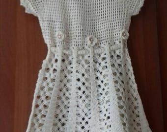 crochet baby girl dress by cotton