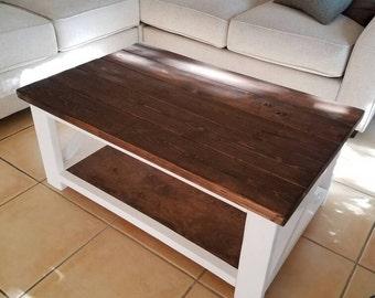 Farmhouse style coffee table rustic x