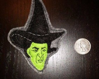 Felt Wicked Witch of the West Pin