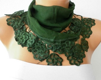 St. Patrick's day gift,Emerald Green Cotton Scarf, Summer Scarf, Cowl Bridesmaid Gift Gift Ideas For Her, Women Fashion Accessories