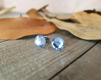 Stud earrings - crystal stud earrings - rhinestone studs - swarovski stud earrings - swarovski earrings - crystal studs - crystal earrings