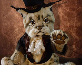 OOAK lynx steampunk, handmade