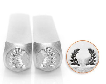 Wreath Ends- 2 Pack- Metal Design Stamp ImpressArt- 6mm Design Stamp-Steel Stamps-NEW!