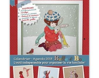 Cross stitch design No. 46 - December 2014 Magazine / January 2015 - calendar - calendar 2015 Belle and Boo