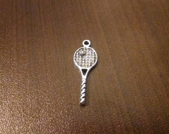 10pcs - Antique Tibetan Silver Tennis Racket Charms - Bulk Charms - 29mm x 10mm D59
