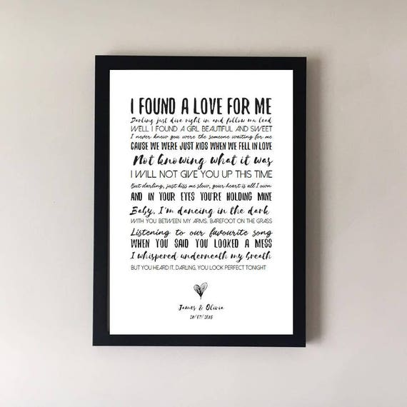 Perfect song lyrics print wedding song song lyrics first stopboris Image collections