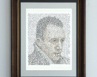 Albert Camus, portrait of the artist in his own words - with the original text of his striking novel L'étranger