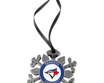 Toronto Blue Jays Snowflake Christmas Ornament