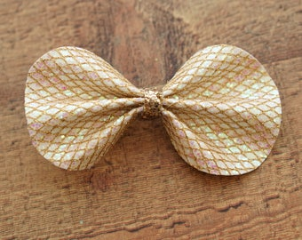 Mermaid Gold Glitter Sophia Bow