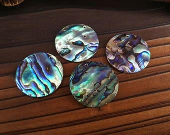 10 Pieces 25mm Abalone Shell Round Pendant Paua Shell Round Pendant
