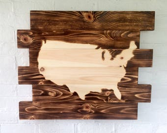 United States of America wood sign- home decor- wall decor- Man Cave Sign