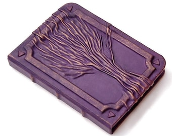 Leather purple journal, leather notebook, travel journal, leather diary sketchbook, blank book