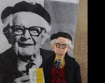 Jean Piaget Doll Child Psychology Mind Science Psychiatry Art
