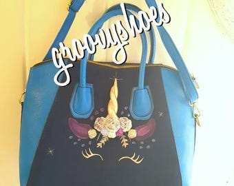 Unicorn bag, Unicorn tote bag, Light up unicorn bag, Unicorn gift, Gift for her, Unicorn bag, Unicorn gift.