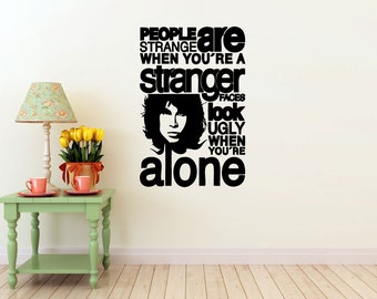 Jim Morrison vinyl Wall DECAL- The Doors Band- interior design, sticker art, room, home and business decor