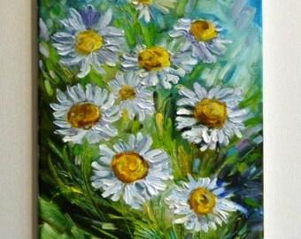 La peinture «Fleurs» / huile sur toile / 11,8-23,6 *