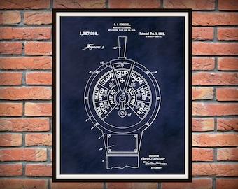 Patent 1921 Marine Telegraph - Ships Internal Communication - Nautical - Boat - Art Print - Poster - Naval Wall Art - Submarine Telegraph
