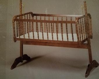 Vintage Jenny Lind Baby Cradle Vintahe Crib Jenny Lind