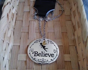 Believe Fairy Necklace 18 inch Chain