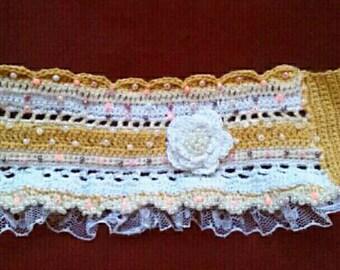 Bracelet, crochet cuff