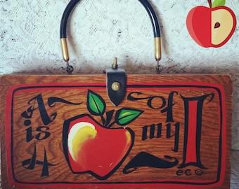 Enid Collins, Vintage, Box Bag, An Apple for my Eye, Vintage Handbag