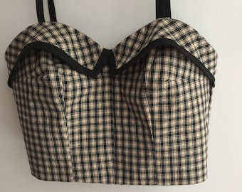 Adorable handmade 1950'2 vintage style halter top size 10.