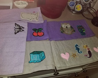 Hand decorated wash cloths