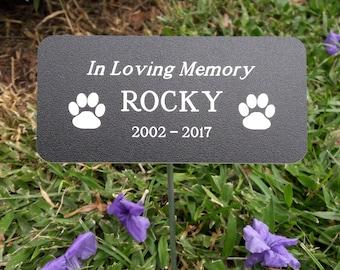 "Custom Engraved Pet Memorial Marker 2.75"" x 5.75"", Custom Pet Memorial, Grave Markers for Pets, Pet Grave Marker, Engraved Pet Memorial"