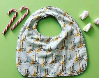 giraffe pattern bib