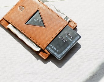 Minimalist Wallet, Men's Leather Wallet, Front pocket wallet, in Vegetable Tanned leather. RFID-blocking, Swedish Design, Free US Shipping