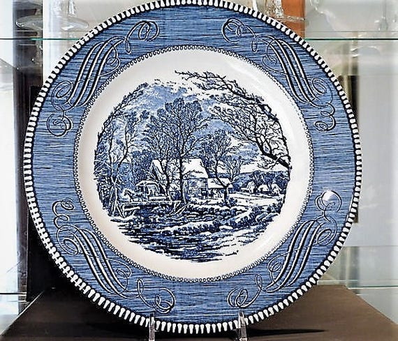Currier and Ives Dinner Plate / The Old Grist Mill / QTY 8