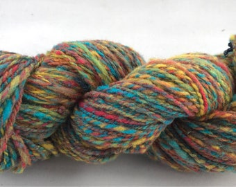 Varigated handspun hand dyed wool