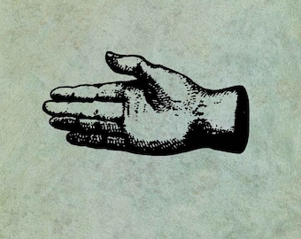 Hand Outstretched - Antique Style Clear Stamp