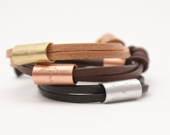 INFINITY leather bracelet with engraving, engraved bracelet, real leather,personalized bracelet for men,engraved, Father's Day Gift