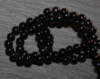 x 30 round onyx 3mm genuine semi-precious stone beads