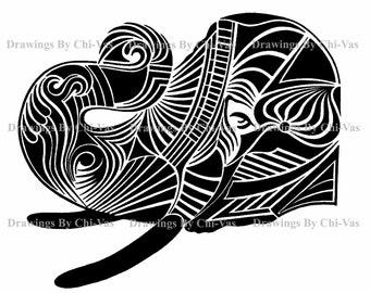 Deco Elephant Head