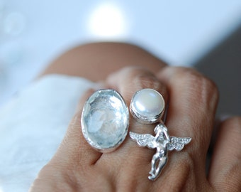 The Angel Ring in Silver