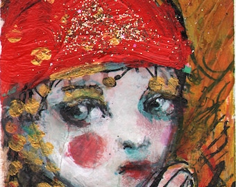 SPECIAL ACEO offer- 4 for  20 Dollars -CIrcus Girl-  Open edition reproduction by Maria Pace-Wynters