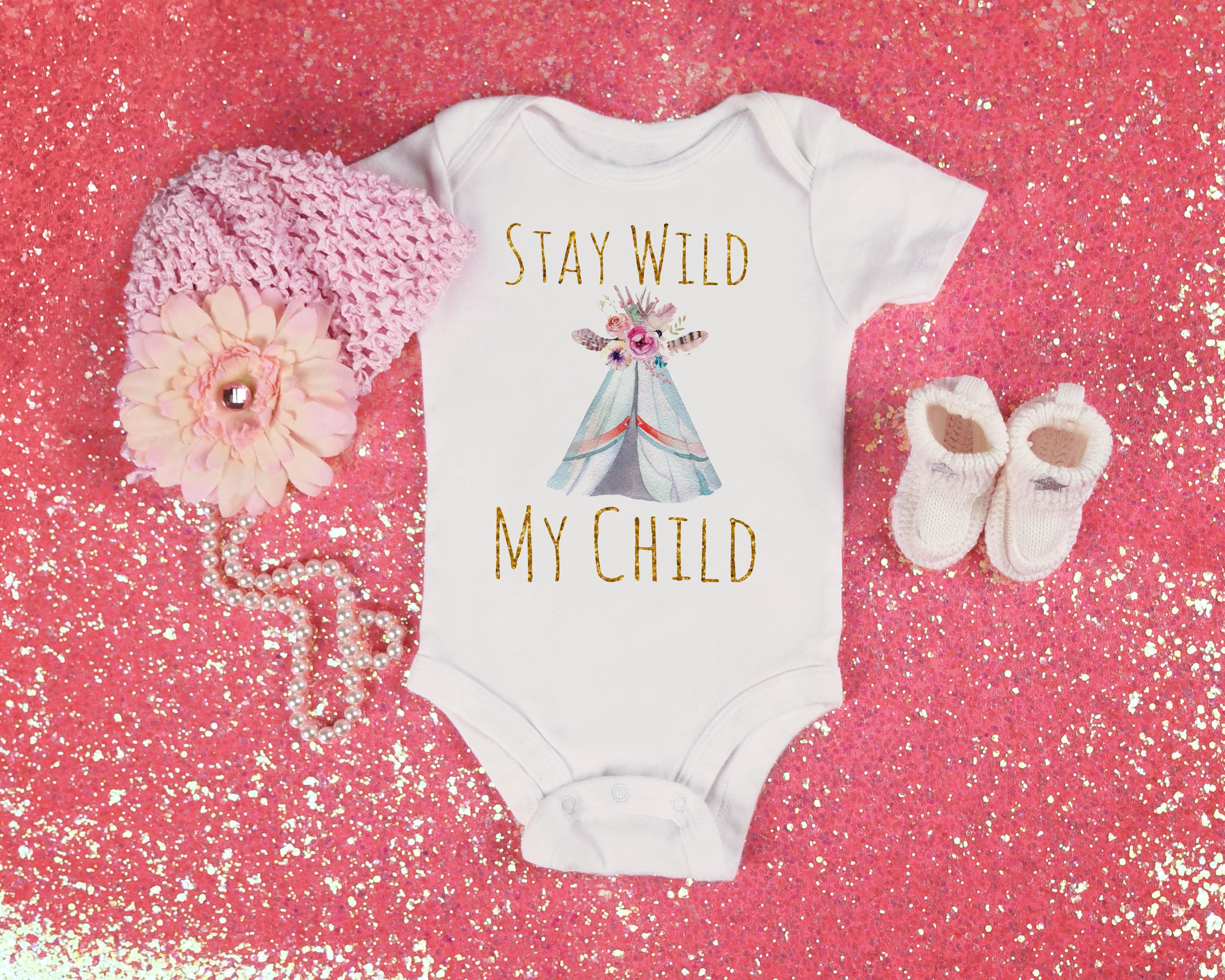 Stay Wild My Child New Baby Outfit Boho Baby Girl Clothes Wel e